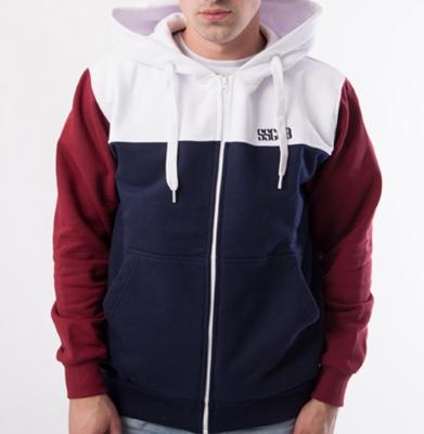 Bluza SSG Zip Colors Granat Biały Bordo
