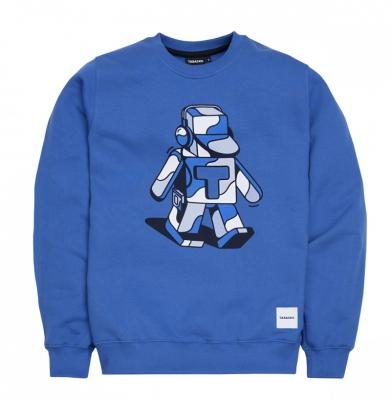 Bluza TABASKO Crewneck Walkaman Blue