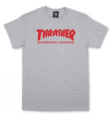 Koszulka THRASHER Skate Mag Grey/Red