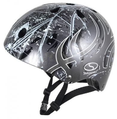 Kask SMJ SK-501 Anarchy Metalic Silver