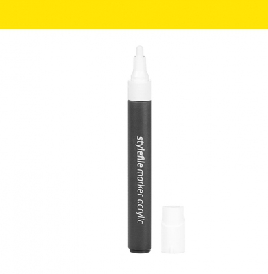 Marker STYLEFILE Acrylic Single Marker Yellow 4mm