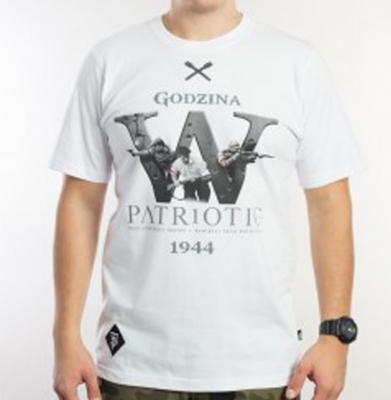 Koszulka PATRIOTIC GODZINA W Biała