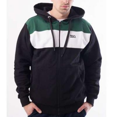 Bluza SSG Zip Colors Czarny Biały Zieleń