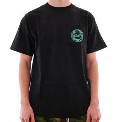 Koszulka SPITFIRE Flying Classic Black/Glow