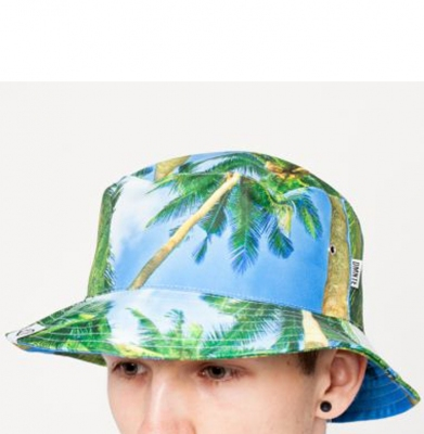 Czapka DIAMANTE WEAR 'Blue Palms Bucket'