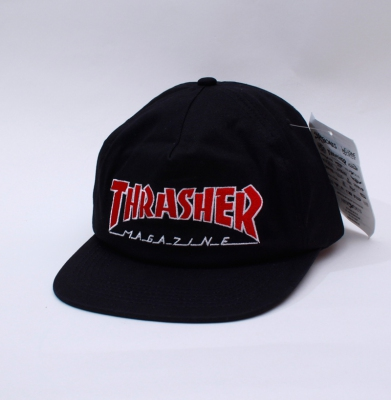 Czapka THRASHER SNAPBACK OUTLINED Black