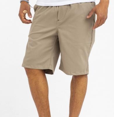Szorty MORO Mini Baseball Leather Beżowe Wywijane Nogawki