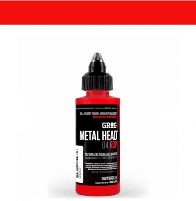Marker GROG Metal Head 04 RSP Ferrari Red 4mm