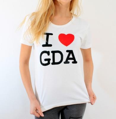 Koszulka I LOVE GDA