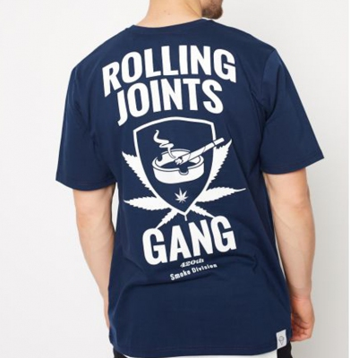 Koszulka DIAMANTE WEAR 'Roling Joints Gang' Unisex Granat