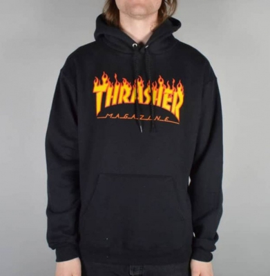 Bluza THRASHER Hood Flame Black