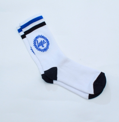Skarpetki HYPE Crest Sock White Blue