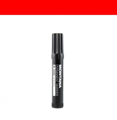 Marker MONTANA Permanent Short 4mm Red