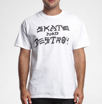 Koszulka THRASHER Skate And Destroy White