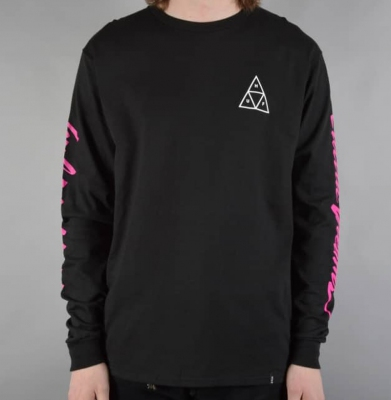 Longsleeve HUF Night Call Triple Tria Black