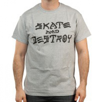 Koszulka THRASHER Skate And Destroy Grey