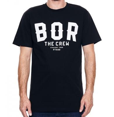 Koszulka BOR BORCREW THE CREW Czarna