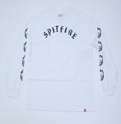Longsleeve SPITFIRE Old E Prm White/Black