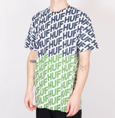 Koszulka HUF Wave Hot Lime
