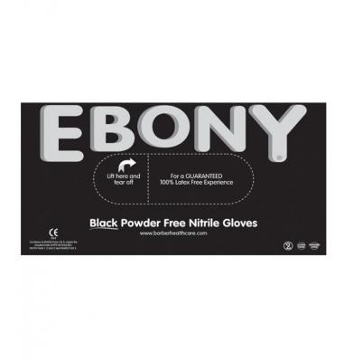 Rękawice, rękawiczki ochronne Ebony Black Nitrilowe Box Roz.L