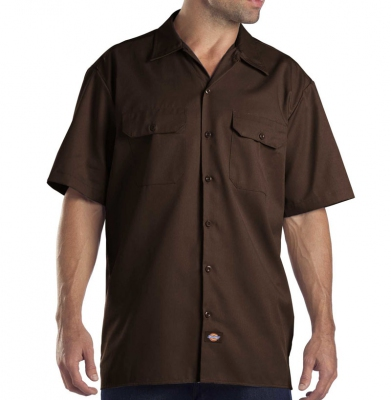Koszula DICKIES SHORT SLEEVE Original Fit 1574 Dark Brown
