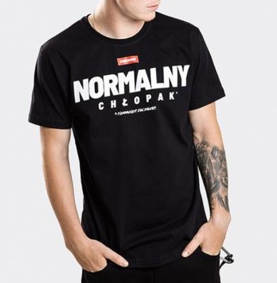Koszulka STOPROCENT TMS NORMALNY BLACK Slim