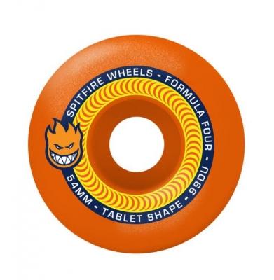 Koła SPITFIRE Formula Four Tablets Neon Orange 99du 53mm