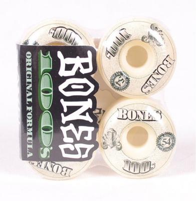 Kółka BONES 54mm 100 White V4 54mm
