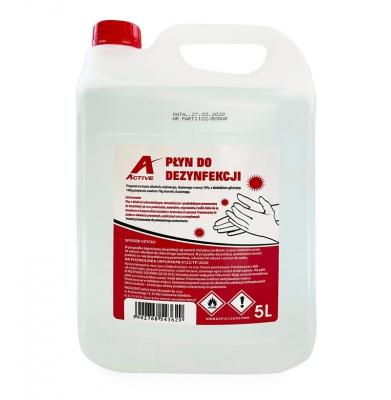 Płyn do Dezynfekcji Rąk i Powierzchni 70% - 5L