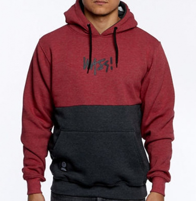 Bluza MASS DNM Result Hoody Heather Claret