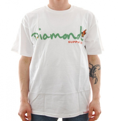 Koszulka DIAMOND SUPPLY Paradise OG Script White