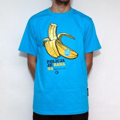 T-shirt COHORTE Banan Niebieski