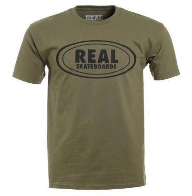Koszulka REAL Oval Military Green