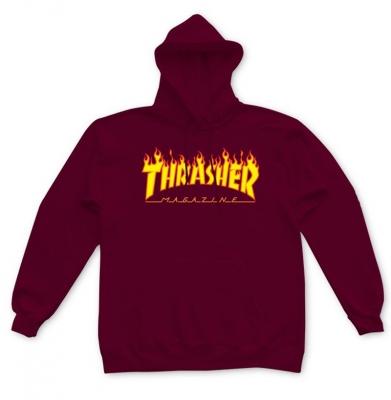 Bluza THRASHER Hood Flame Logo Maroon