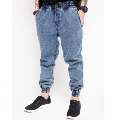 Spodnie DIAMANTE WEAR 'Jogger Jeans' Marmurkowe Niebieskie