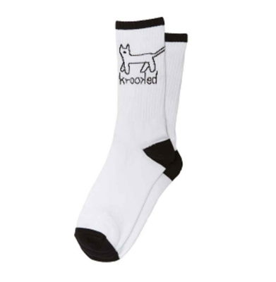 Skarpety KROOKED Sock Kat White/Black