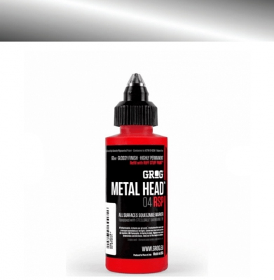 Marker GROG Metal Head 04 RSP Burning Chrome 4mm