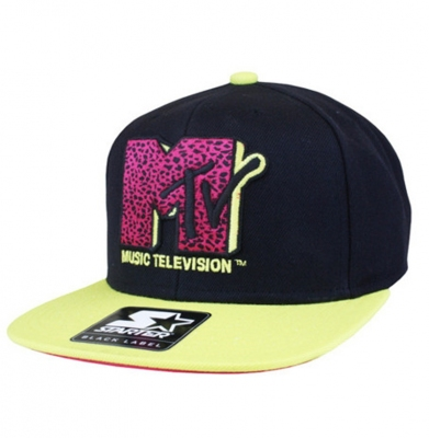 Snapback STARTER MTV INFILL ICON LOGO Black/Yellow
