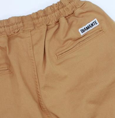 Spodnie Materiałowe DIAMANTE WEAR Elegants Miodowe